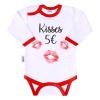 NEW BABY | Áruk | Body nyomtatott mintával New Baby ajkak | Fehér | 62 (3-6 h)