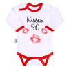 NEW BABY | Áruk | Body nyomtatott mintával New Baby ajkak | Fehér | 68 (4-6 h)
