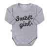 NEW BABY Baba hosszú ujjú body New Baby Sweet girl szürke | Szürke | 86 (12-18 m)