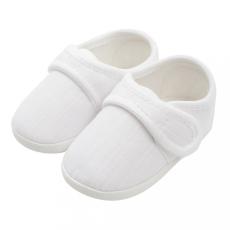 NEW BABY Baba kiscipő New Baby Linen fehér 0-3 h