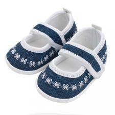 NEW BABY Baba kislányos cipő New Baby Jeans fehér 0-3 h gyerek cipő