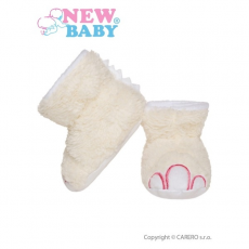 NEW BABY Baba papucz New Baby Dino bézs   Bézs   0-6 m