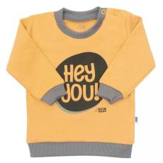 NEW BABY Baba póló New Baby With Love mustárszín
