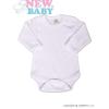 NEW BABY Body hosszú ujjú New Baby - fehér | Fehér | 92 (18-24 h)
