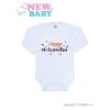NEW BABY Body nyomtatott mintával New Baby Happy Halloween | Narancssárga | 50