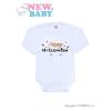NEW BABY Body nyomtatott mintával New Baby Happy Halloween | Narancssárga | 74 (6-9 h)