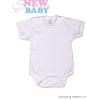 NEW BABY Body rövid ujj New Baby Classic | Fehér | 68 (4-6 h)