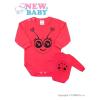 NEW BABY Csecsemő body hossú ujj New Baby Állat katicabogár rózsaszín | Sötét rózsaszín | 56 (0-3 h)