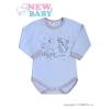 NEW BABY Csecsemő hosszú ujjú body (kombidressz) New Baby Barátok kék | Kék | 74 (6-9 h)