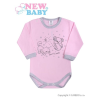 NEW BABY Csecsemő hosszú ujjú body (kombidressz) New Baby Barátok rózsaszín | Rózsaszín | 86 (12-18 h)