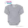 NEW BABY Csecsemő hosszú ujjú body New Baby szürke | Szürke | 56 (0-3 h)