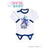 NEW BABY Csecsemő hosszú ujjú body New Baby Towns kék | Kék | 86 (12-18 h)