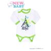 NEW BABY Csecsemő hosszú ujjú body New Baby Towns zöld | Zöld | 80 (9-12 h)