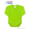 NEW BABY Csecsemő hosszú ujjú body New Baby világos zöld | Világos zöld | 80 (9-12 h)