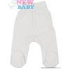 NEW BABY Csecsemő lábfejes nadrág New Baby Classic | Fehér | 86 (12-18 h)