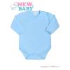 NEW BABY Csecsemő teljes hosszba patentos body New Baby Classic kék | Kék | 56 (0-3 h)