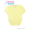 NEW BABY Csecsemő teljes hosszba patentos body New Baby Classic sárga | Sárga | 50