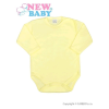 NEW BABY Csecsemő teljes hosszba patentos body New Baby Classic sárga | Sárga | 62 (3-6 h)