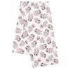 NEW BABY Flanel pelenka nyomtatott mintával New Baby fehér teknősök rózsaszín