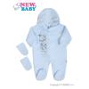 NEW BABY Fleece kezeslábas New Baby Barátok kék | Kék | 74 (6-9 h)