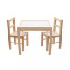 NEW BABY Gyerek fa asztal székekkel New Baby PRIMA természetes