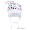 NEW BABY Gyerek pamut sapka New Baby Katica   Fehér   80 (9-12 h)