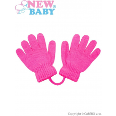 NEW BABY Gyermek kesztyű New Baby sötét rózsaszín
