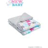 NEW BABY Gyermek pléd Minky New Baby fehér - szürke 80x102 cm