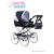 NEW BABY Gyermek Retro babakocsi babáknak 2az1-ben Baby Mix Natálka fehér - fekete | A kép szerint |