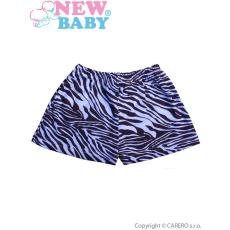 NEW BABY Gyermek rövidnadrág New Baby Zebra kék