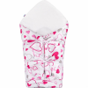 NEW BABY Klasszikus megkötős pólya New Baby rózsaszín szívecskék