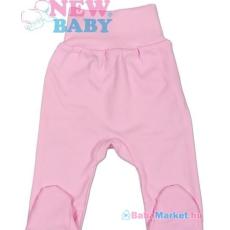 NEW BABY Lábfejes baba nadrág - New Baby Classic Rózsaszín 86 (12-18 hó)