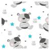 NEW BABY | Nem besorolt | Vízálló flanel alátét New Baby Cute Teddy | Fehér |