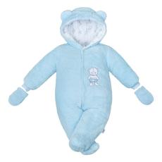 NEW BABY | New Baby Nice Bear | Téli kezeslábas New Baby Nice Bear kék | Kék | 74 (6-9 h)