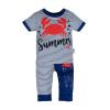 NEW BABY | New Baby Summer Collection | Baba rüvid ujjú póló és szabadidő nadrág New Baby Summer | Kék | 68 (4-6 h)