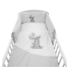 NEW BABY | New Baby Zebra exclusive | 5-részes ágyneműhuzat New Baby Zebra exclusive 100/135 fehér-szürke | Fehér |
