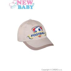 NEW BABY Nyári gyermek baseball sapka New Baby Football 2 bézs