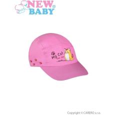 NEW BABY Nyári gyermek baseball sapka New Baby My Cat sötét rózsaszín