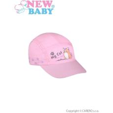 NEW BABY Nyári gyermek baseball sapka New Baby My Cat világos rózsaszín