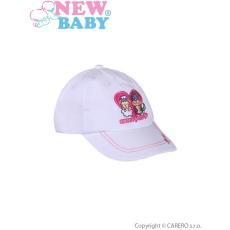 NEW BABY Nyári gyermek baseball sapka New Baby Sweet Pets fehér