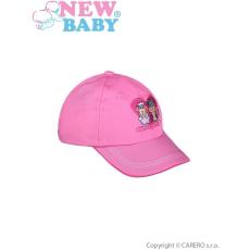 NEW BABY Nyári gyermek baseball sapka New Baby Sweet Pets sötét rózsaszín