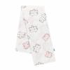 NEW BABY Pamut pelenka nyomtatott mintával New Baby fehér puzzle rózsaszín
