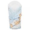 NEW BABY Pólya kókusz betéttel és masnival New Baby világos kék macival