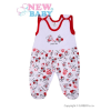 NEW BABY Rugdalózó New Baby Katica   Fehér   74 (6-9 h)
