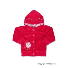 NEW BABY Szemis pulóver kapucnival | Rózsaszín | 74 (6-9 h) babapulóver, mellény