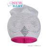 NEW BABY Tavaszi sapka New Baby Baglyócska szürke - rózsaszín | Rózsaszín | 110 (4-5 éves)