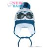 NEW BABY Téli gyermek sapka New Baby Szemüveg szürke | Szürke | 104 (3-4 éves)