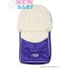 NEW BABY Téli lábzsák New Baby Classic Wool lila | Lila |