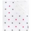NEW BABY Vízálló flanel alátét New Baby csillagok rózsaszín