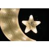Nexos Trading GmbH & Co. KG Karácsonyi dekoráció - hold csillagal - hideg fehér